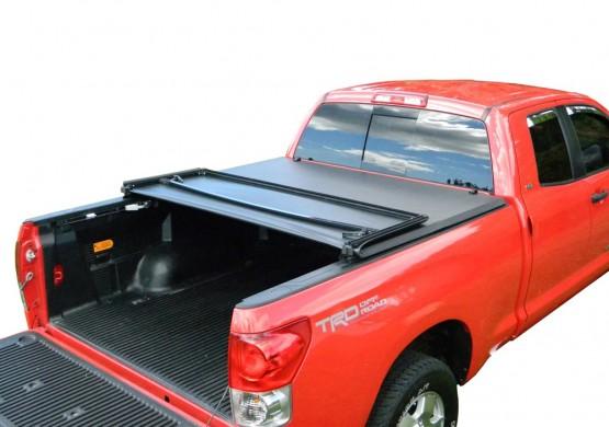 Мягкий трехсекционный тент с алюминиевой вставкой Toyota Tundra II 5.5 Short Bed (2014+)