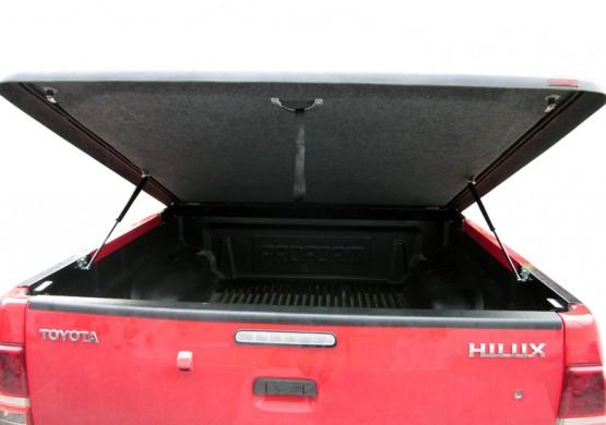 Пластиковая подъемная крышка Nissan Navara Frointer D40 (серый)
