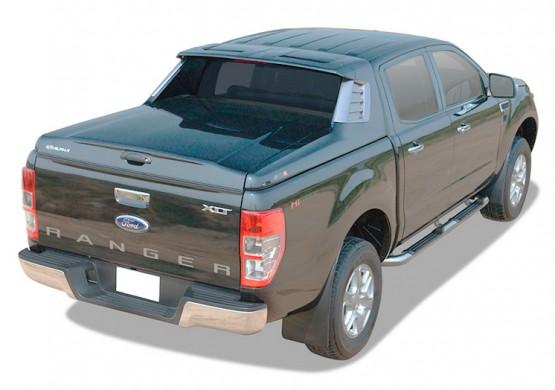 Спортивная крышка ALPHA со стоп сигналом Ford Ranger T6 (зеленый)