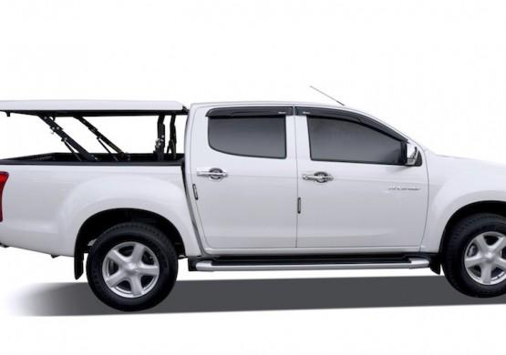 Подъемная крышка TopUp с дугами Volkswagen Amarok I (черный) (2011+)