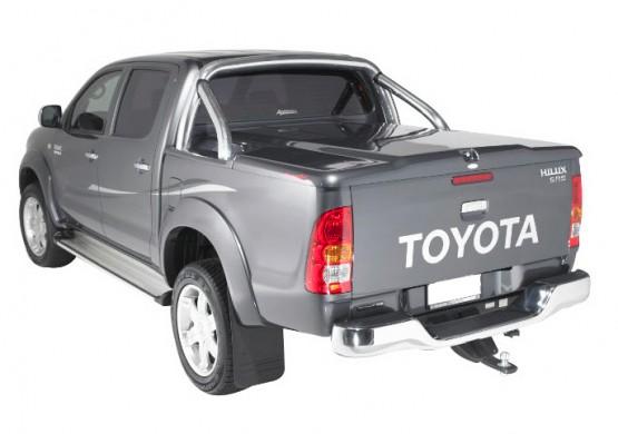 Подъемная крышка TopUp с дугами Toyota Hilux VII Vigo (в грунте)