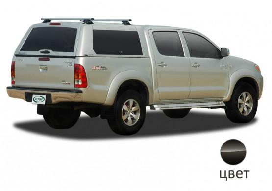 Кунг ALPHA Toyota Hilux Vigo Double Cab (GME) (черный) (2005+)