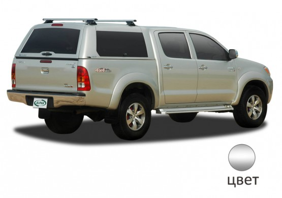 Кунг ALPHA Toyota Hilux Vigo Double Cab (GME) (серебристый) (2005+)