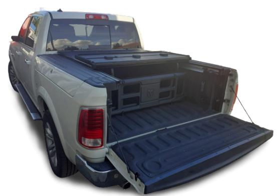 Жесткая трехсекционная крышка Dodge Ram 5.7 (2009+) c Ram Box