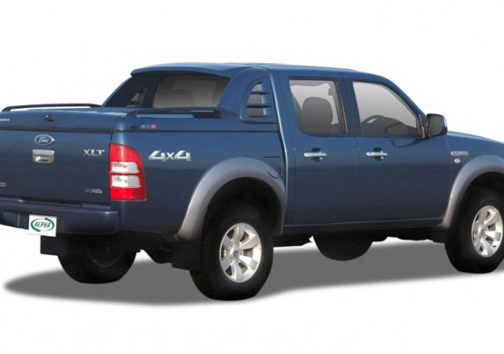 Спортивная крышка ALPHA со стоп сигналом Ford Ranger T6 (синий) (2012+)