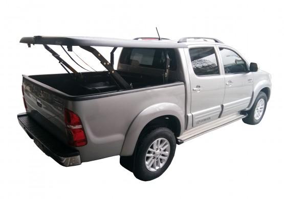 Подъемная крышка TopUp без дуг Toyota Hilux VII Vigo (цвет серебро) (2005+)